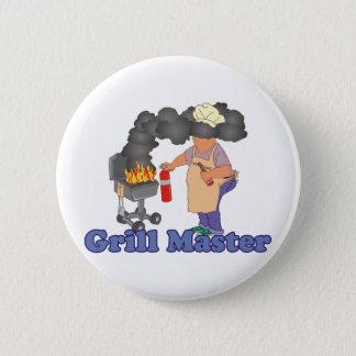 Lustiger Grill-Hauptgrill Runder Button 5,1 Cm