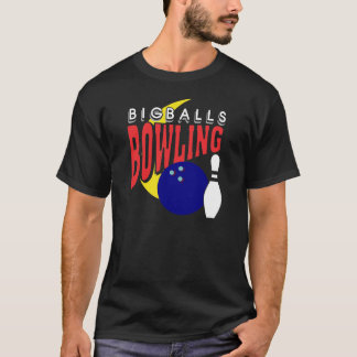 Lustiger großer Ball-Bowling T-Shirt