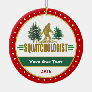 Lustiger großer Fuß Sasquatch Keramik Ornament