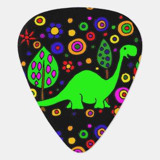 Lustiger grüner Brontosaurus-Dinosaurier-abstrakte Pick