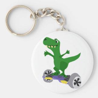 Lustiger grüner T-Rex Dinosaurier auf Schlüsselanhänger