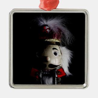 Lustiger gruseliger Nussknacker Silbernes Ornament