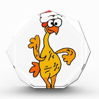 Lustiger Gummihuhn-WeihnachtsCartoon Acryl Auszeichnung