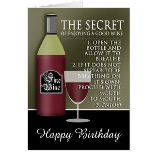 Lustiger guter Wein-Geburtstag Grußkarte