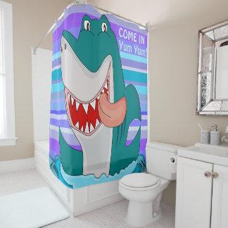 Lustiger Haifisch Duschvorhang