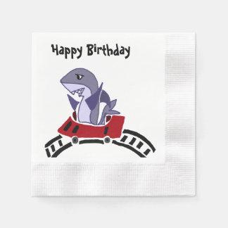 Lustiger Haifisch-Reitrollen-Untersetzer Papierserviette