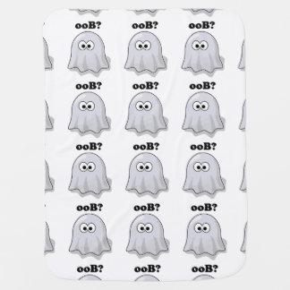 Lustiger Halloween-Geist sagt Boo rückwärts Babydecke