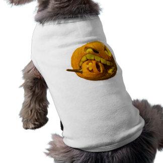 Lustiger Halloween-Kürbis-Kopf Haustierkleidung