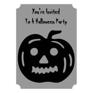 Lustiger Halloween-Kürbis mit herausgeschnittenem 12,7 X 17,8 Cm Einladungskarte