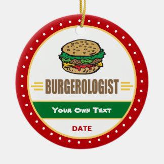 Lustiger Hamburger-Cheeseburger Keramik Ornament