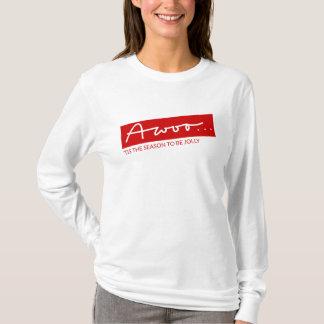 Lustiger Handmit buchstaben gekennzeichneter T-Shirt