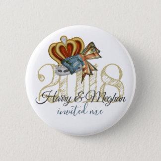 Lustiger Harry und Meghan luden mich königliche Runder Button 5,7 Cm