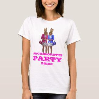 Lustiger Häschenmädchen Junggeselinnen-Abschied T-Shirt