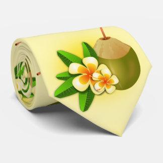 Lustiger hawaiischer tropischer Kokonussmilch. Individuelle Krawatten