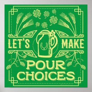 Lustiger Heiligen Patrick Tagesirisches Bier Poster