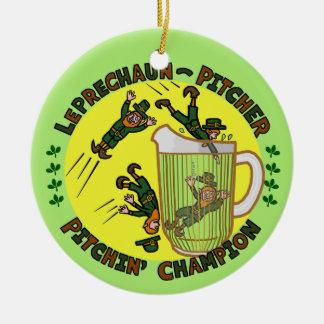 Lustiger Heiligen Patrick Tageskobold-Krug Rundes Keramik Ornament