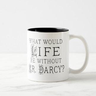 Lustiger Herr Darcy Reading Quote Zweifarbige Tasse
