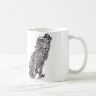 Lustiger Heulenwolf Kaffeetasse