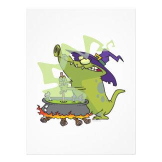 lustiger Hexealligator, der großen Kessel kocht Personalisierte Einladungen