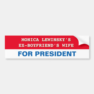 Lustiger Hillary Clinton für Präsidenten Autoaufkleber