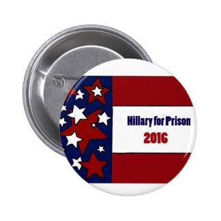 Lustiger Hillary für Gefängnis-politische Kunst Runder Button 5,1 Cm