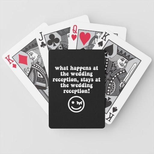 lustiger Hochzeits-Empfang Spielkarten