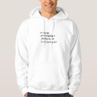 Lustiger Hoodiewitzspaß über den Kapuzensweatshirts