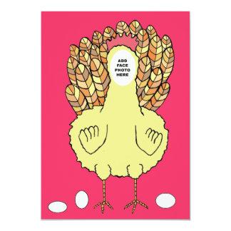 Lustiger Huhn-Henne-NachtJunggeselinnen-Abschied 12,7 X 17,8 Cm Einladungskarte