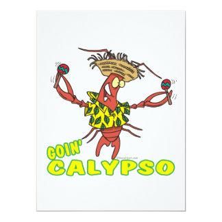 lustiger Hummer goin Kalypsos mit maracas Personalisierte Ankündigungen