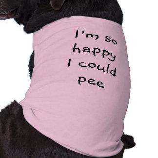 Lustiger Hund bin ich, also glücklich könnte ich Ärmelfreies Hunde-Shirt