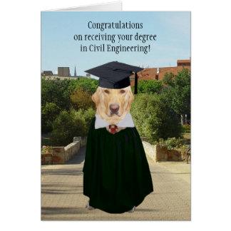Lustiger Hund/Labrador-Abschluss-ziviler Ingenieur Karte