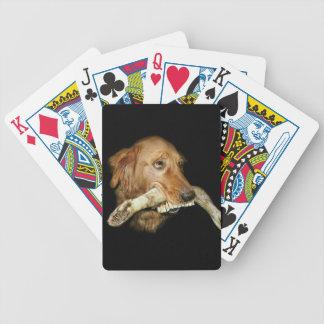 Lustiger Hund mit die Zahn-dem Knochen des Pferds Bicycle Spielkarten