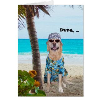 Lustiger Hunde-/Labrador-Hawaiianer-Geburtstag Karte
