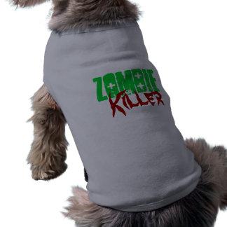 Lustiger Hundeshirt-Zombie-Mörder Ärmelfreies Hunde-Shirt