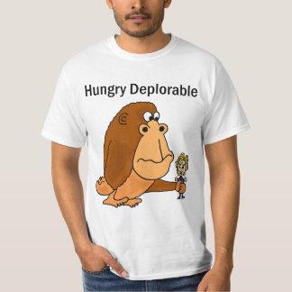 Lustiger hungriger bedauernswerter riesiger Affe T-Shirt