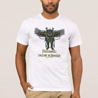 Lustiger inländischer Raketenwissenschaftler-T - T-Shirt