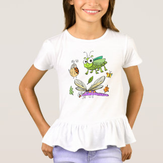 lustiger Insektenkindertier-Cartoon T-Shirt