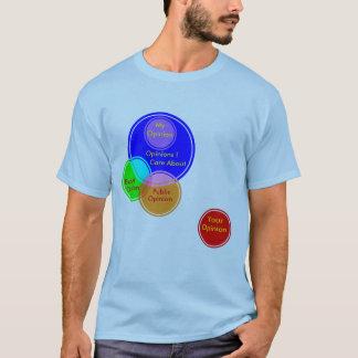 Lustiger intelligenter Venn Diagramm-Diagramm-Witz T-Shirt