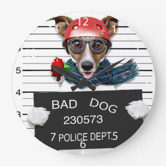 Lustiger Jack Russell, Mugshothund Große Wanduhr