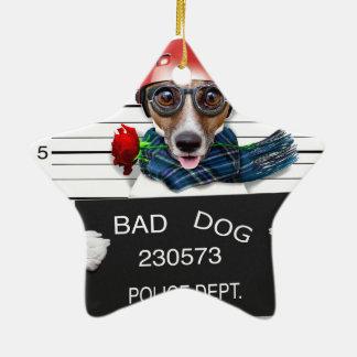 Lustiger Jack Russell, Mugshothund Keramik Ornament