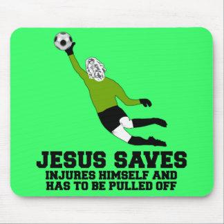 Lustiger Jesus rettet Mauspads