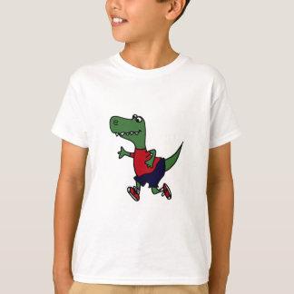 Lustiger Joggen Trex Dinosaurier T-Shirt
