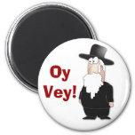 Lustiger jüdischer Rabbiner - cooler Cartoon Magnete