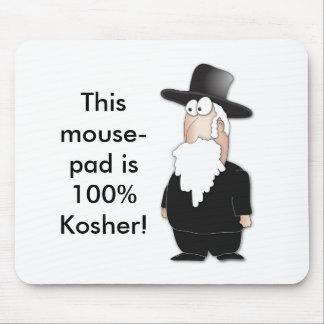 Lustiger jüdischer Rabbiner - cooler Cartoon Mousepads