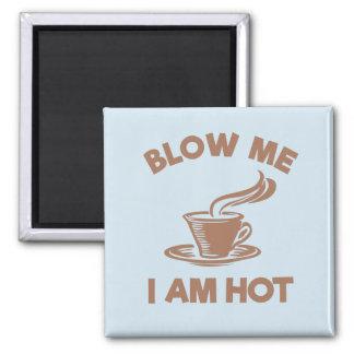 Lustiger Kaffee - brennen Sie mich durch, den ich Quadratischer Magnet