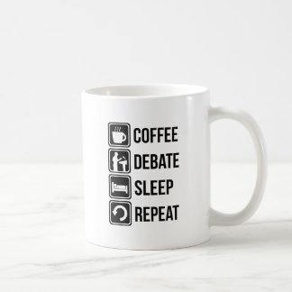 Lustiger Kaffee, der Schlaf-Wiederholung Kaffeetasse