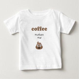Lustiger Kaffee lässt mich emoji Phrase kacken Baby T-shirt
