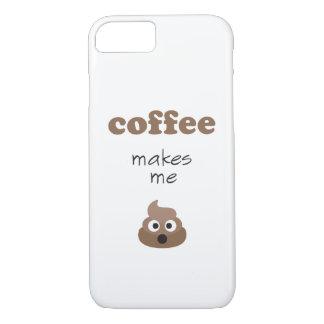 Lustiger Kaffee lässt mich emoji Phrase kacken iPhone 8/7 Hülle