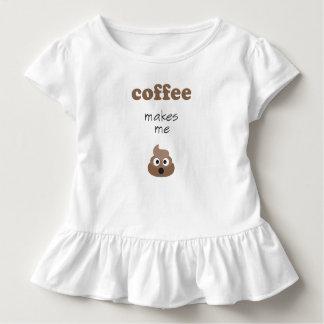 Lustiger Kaffee lässt mich emoji Phrase kacken Kleinkind T-shirt