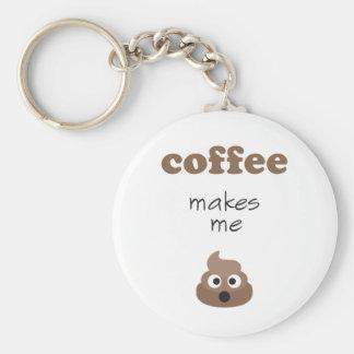 Lustiger Kaffee lässt mich emoji Phrase kacken Schlüsselanhänger